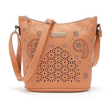 6992eaf475 Hot sale!Todaies Womens Leather Purse Satchel Cross Body Hollow Out Shoulder  Bag Messenger Bag