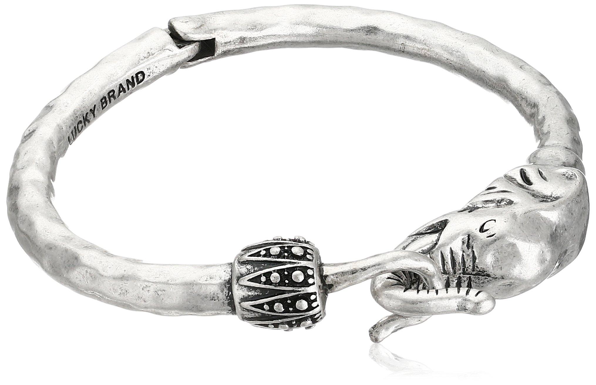 Lucky Brand Silver Elephant Cuff Bracelet, 2.38'' by Lucky Brand