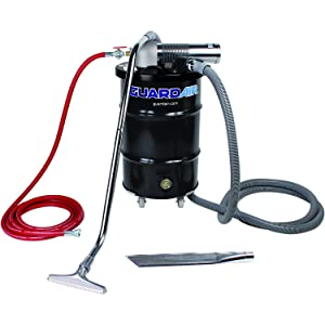 Nortech Guardair Pneumatic Vacuum N301DC 30 Gallon Drum Complete Kit with D Venturi Head, 1.5-Inch Inlet, Hose and Tools