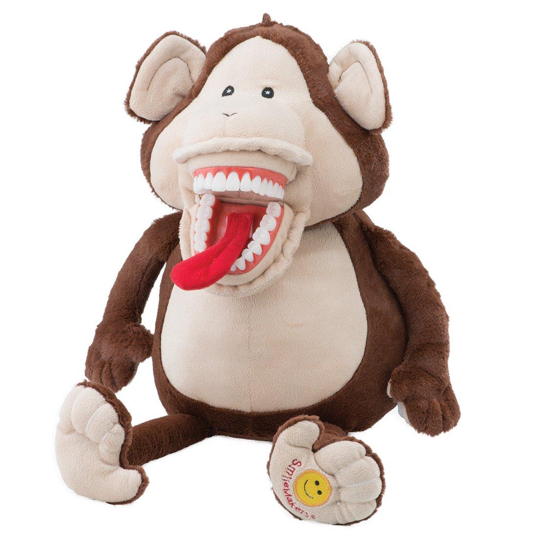 Brush Floss Smile Monkey Dental Puppet - Children's Dental Education Products