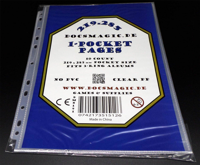 Pagine 11-Hole 95 x 144 mm docsmagic.de 50 4-Pocket Album Pages 3.5 x 5.25 Photo Postcard