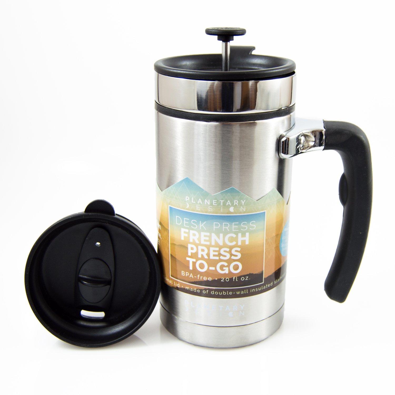 Amazoncom Planetary Design Desk Press Coffee Travel Mug French