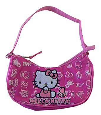 6943ab0397 Amazon.com  Sanrio Hello Kitty Purse - Tulip Hello Kitty Handbag - Hobo Bag  - Pink  Clothing