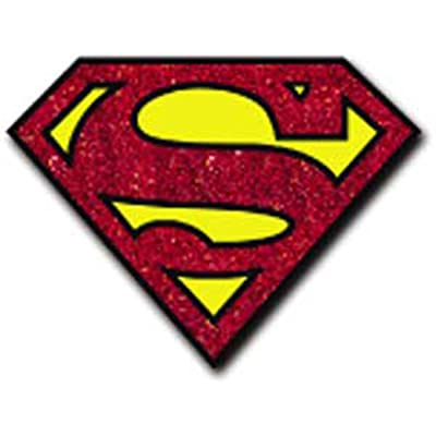 Licenses Products DC Comics Originals Superman Glitter Sticker: Toys & Games