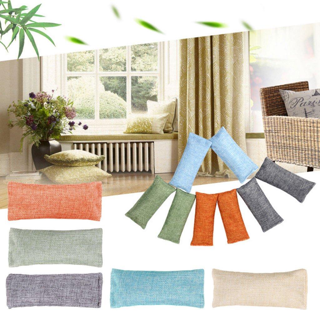 Xuniu 2 Piezas de Desodorante de bambú para Zapatos de Carbón Vegetal de bambú Natural para Eliminar olores de Carbón de bambú y Calcetines Pequeños, ...