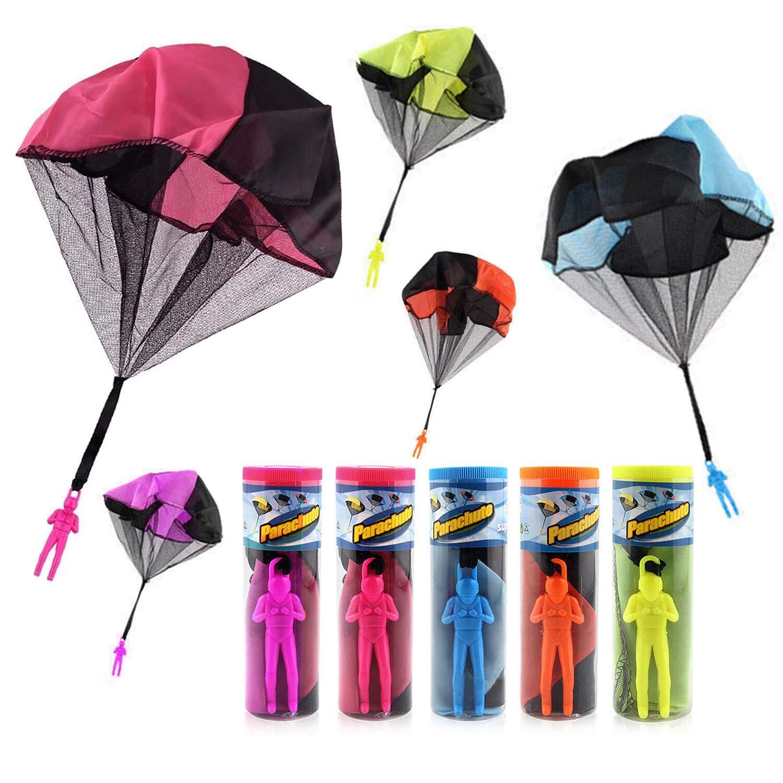 TSLIKANDO 5PCS Parachute Toy Tangle Free Throwing Parachute Toss It Up Watch Landing Outdoor Children's Flying Toys