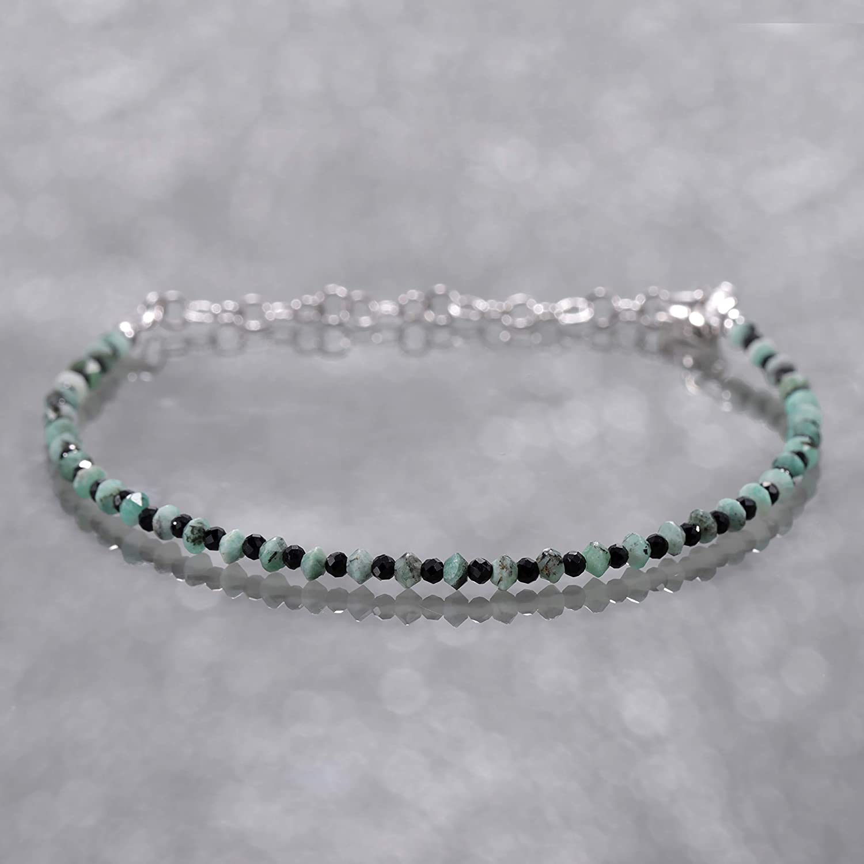 Black Spinel Bracelet Rosary Style Stacking Bracelet Emerald Bracelet Gemstone Bracelet Meditation Bracelet Yoga Bracelet Mothers Day Gift