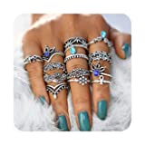 Hanloud Vintage Silver Crystal Joint Knuckle Nail