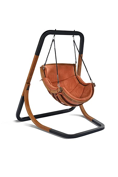 Amazon Com Mentoriend Wooden Swing Chair Hammocks Outdoor Patio