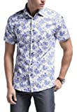 Xswsy XG Mens Short Sleeve Button Front Floral Printed Beachs Hawaiian Shirt