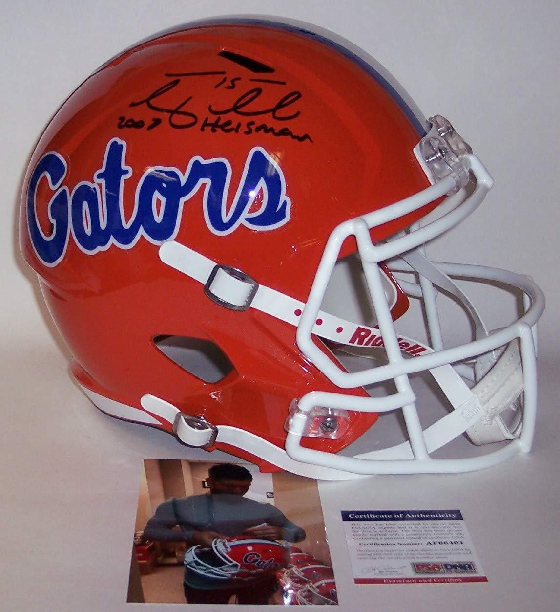 with 07 Heisman inscription PSA//DNA Tim Tebow Autographed Hand Signed Florida Gators Speed Full Size Football Helmet