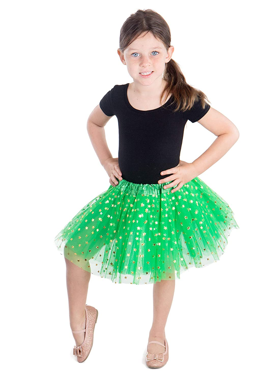 Jasmine Girls 4 Layered Tulle Princess Tutu Skirt with Polkadot//Hearts//Stars