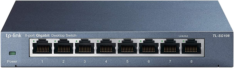 TP-LINK 8 porta Ethernet Switch LAN SPLITTER HUB DI RETE VELOCE 10//100 Mbps