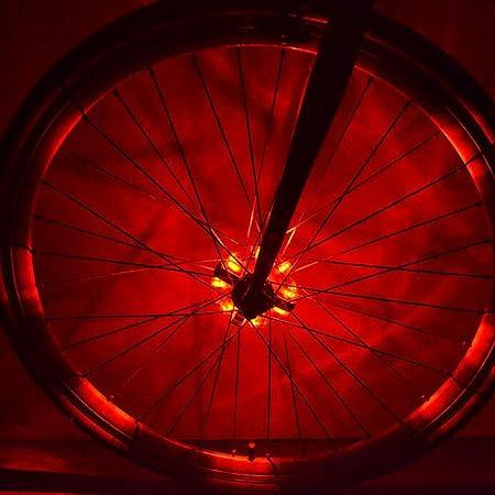 Luces LED Cyborg para rueda de bicicleta, coloridas luces LED personalizadas para las ruedas - perfecto para seguridad y diversión - fácil de instalar ...
