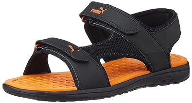 Puma Unisex Cydon DP Black and Orange Rubber Athletic   Outdoor Sandals -  11 UK 7d4e15ae1a32