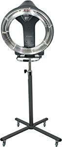 SalonPro Orbiting Halo Infrared Hair Salon Dryer & Color Processor Pro Accelerator - Rolling Base / Stand (Grey)