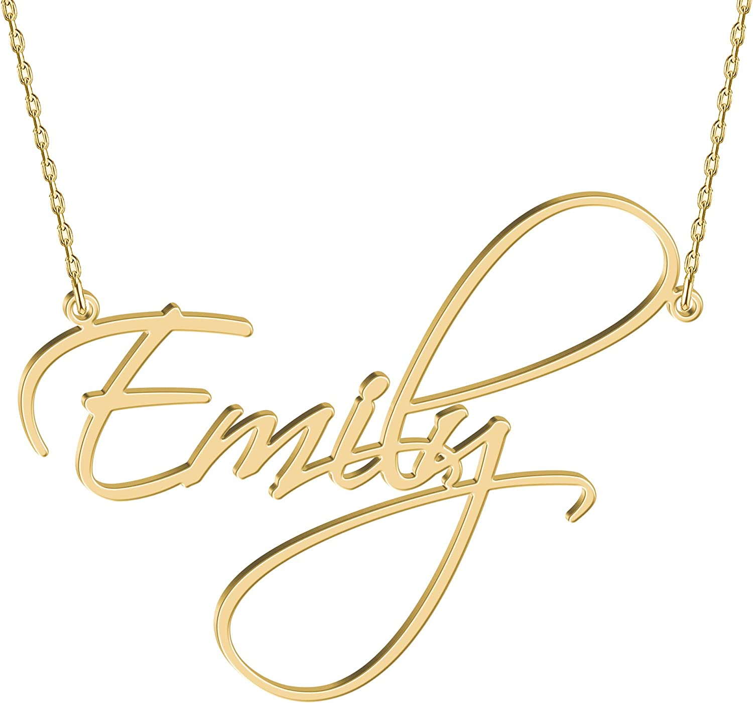 Anniversary Custom Made Crystals Birthday Christmas Gifts For Her GABRIELA Name Necklace /& Name Bracelet Jewellery Set 18K Gold Plated