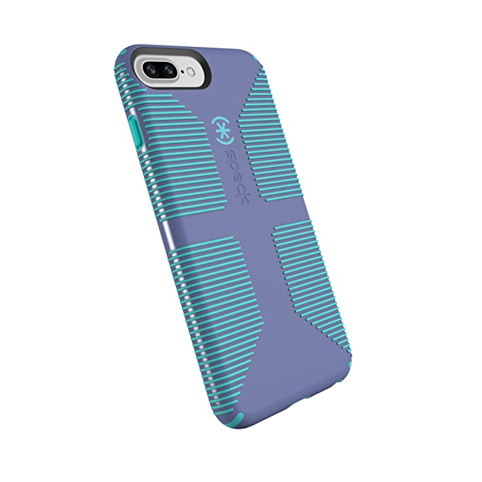 finest selection 6b655 72b47 Speck Products CandyShell Grip Cell Phone Case for iPhone 8 Plus/7 Plus/6S  Plus/6 Plus - Wisteria Purple/Mykonos Blue