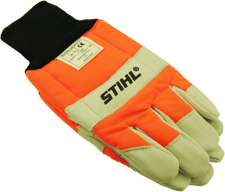 Stihl 0000-883-1509 Par de Guantes Función Protectora MS, Blanco y Naranja