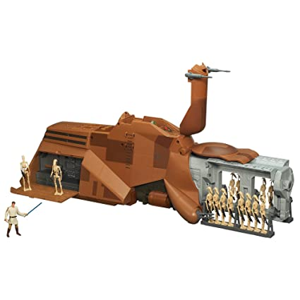 Amazoncom Star Wars Mtt Droid Carrier Vehicle Toys Games