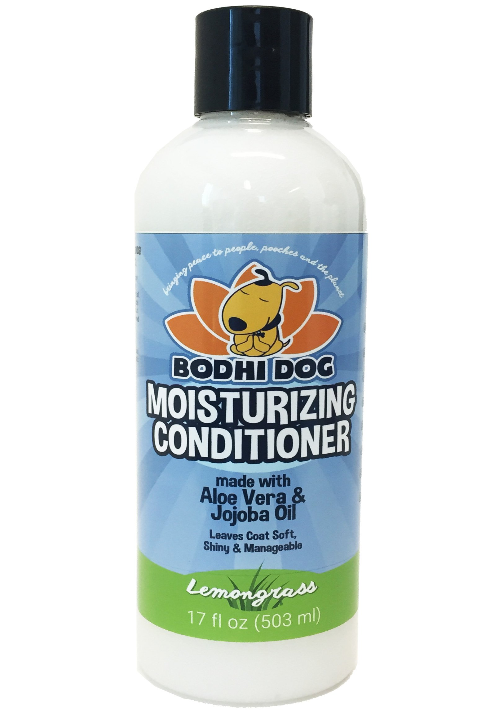 NEW Natural Moisturizing Pet Conditioner | Conditioning for Dogs, Cats and more | Soothing Aloe Vera & Jojoba Oil | Professional Grade Treatment - Made in the USA - 1 Bottle 17oz (503ml) (Lemongrass)