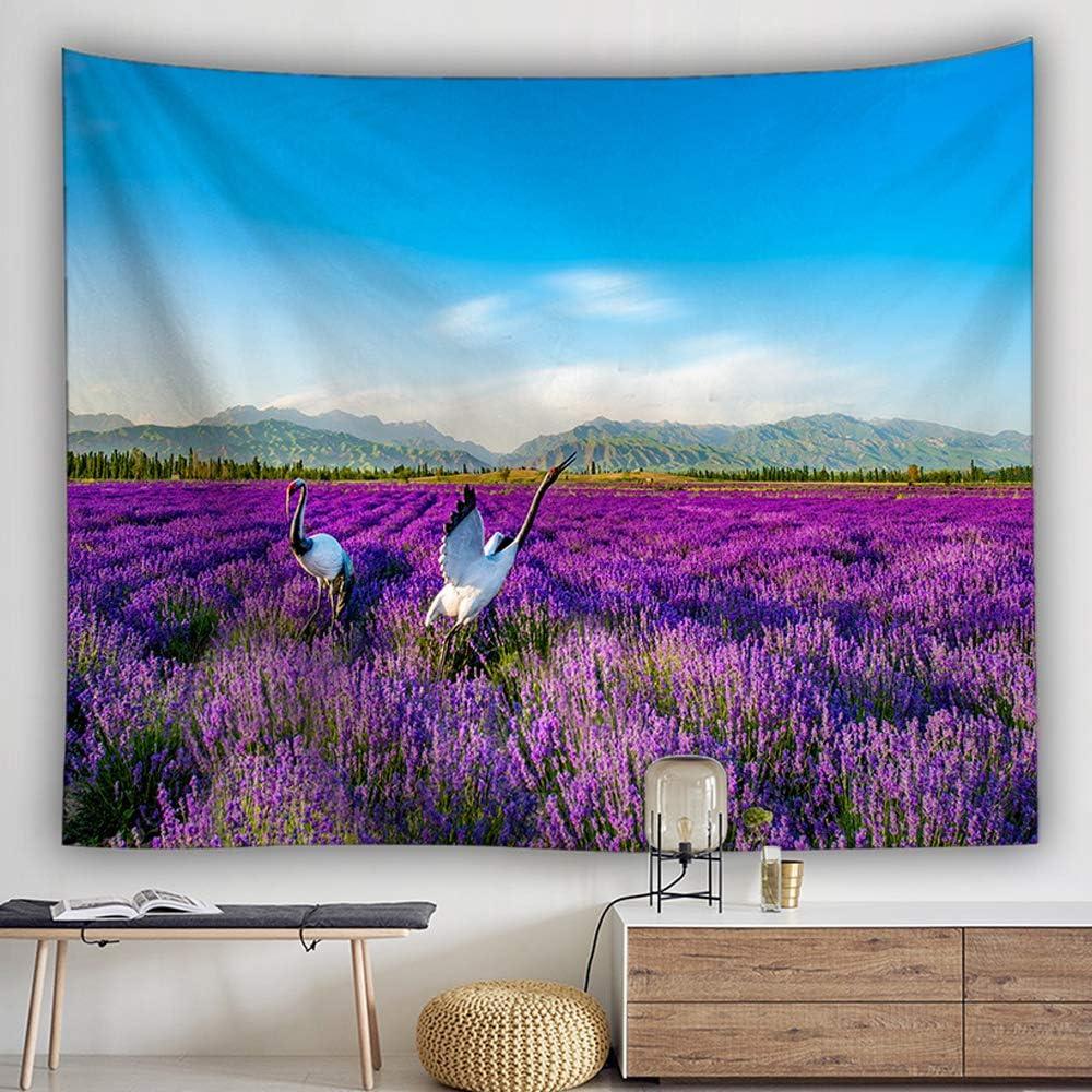 ,Arbre Violet 130 x 150cm Tapisserie Murales Morbuy Style Japonais Paysages D/écoration Personnalit/é Tenture Couverture Pique-Nique Polyester Nappe Yoga Tapestry Petit