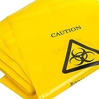 50x amarillo bolsas de basura–35cm x 20cm–cierre autoadhesivo