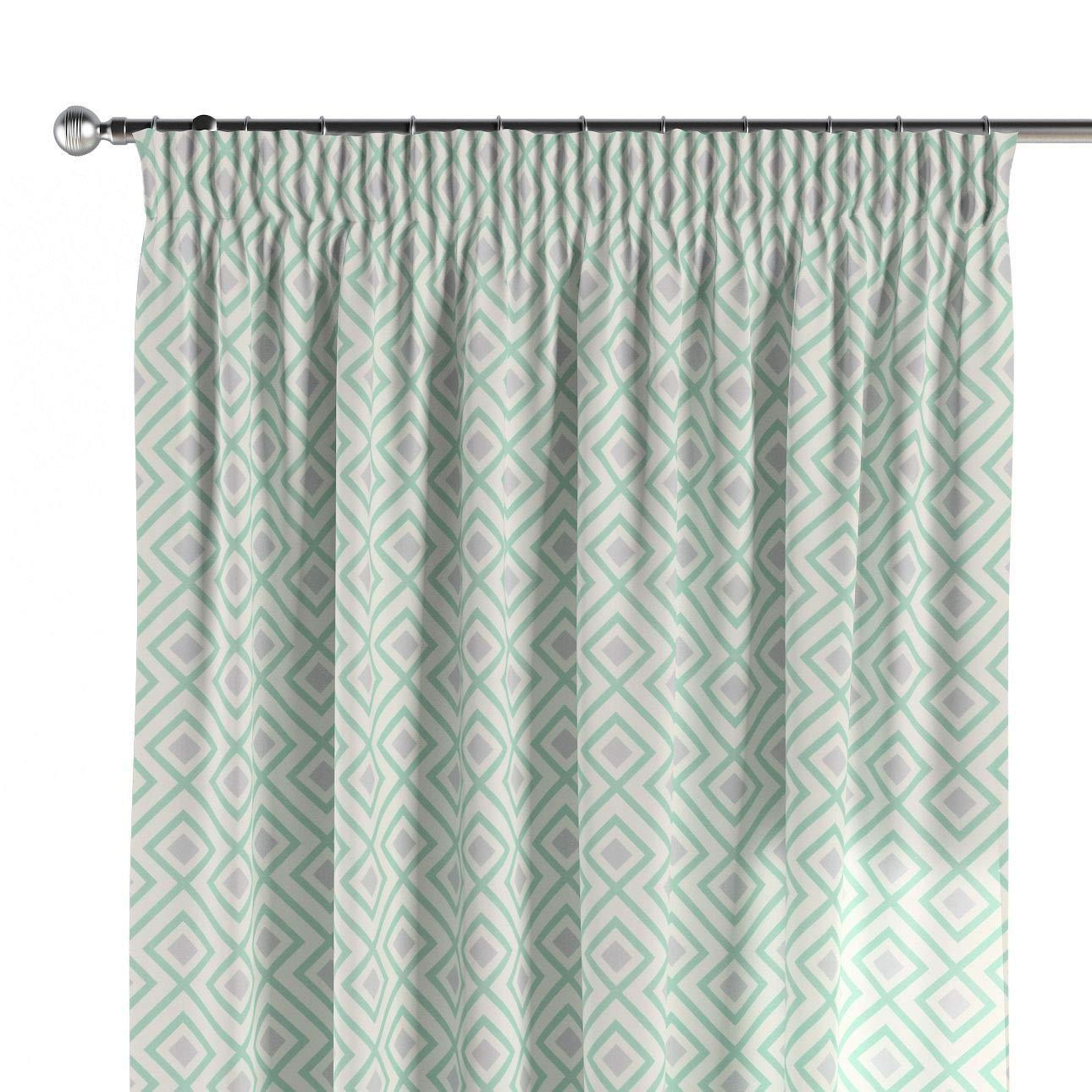 Dekoria Vorhang mit Kräuselband Dekoschal Blickdicht 1 Stck. 130 × 260 cm grau-grün Maßanfertigung möglich