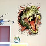 U-Shark 3D Self-Adhesive Removable Break Through The Wall Vinyl Wall Sticker/Mural Art Decals Decorator (3D Dinosaurs…