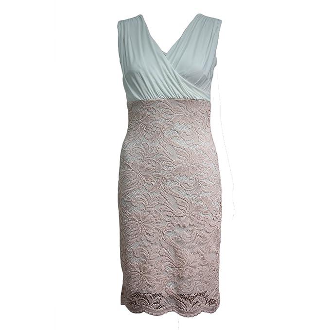 f330634be417 Miss Trendy - Vestito - Senza Maniche - Donna Peach Wrap Front Taglia 46   Amazon.it  Abbigliamento