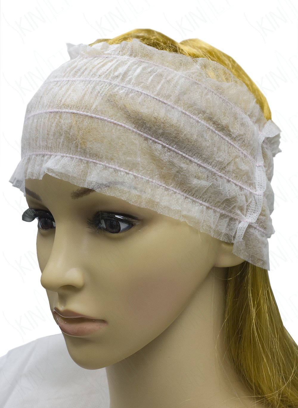 Skin Act Disposable Headband Disposable Stretch Headband White For Salon & Spa. Fits all Head Sizes in 100, 500, 1000 counts