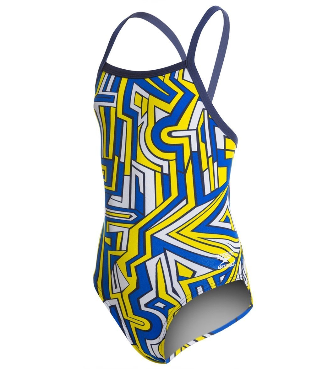 Amazon.com : Speedo Big Girls Conquers All Fly Back Swimsuit : Sports & Outdoors