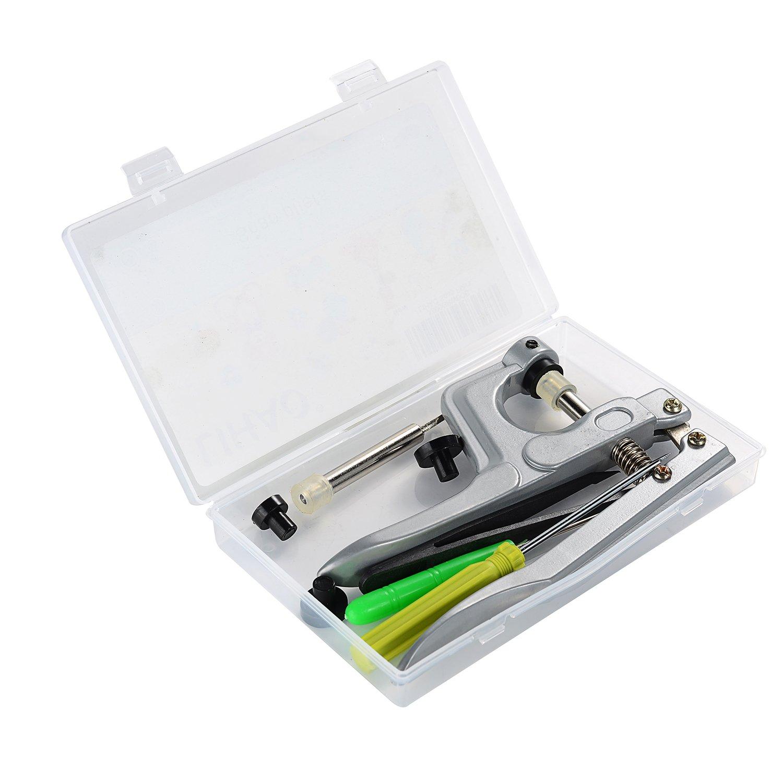 LIHAO Kit di Pinza a Pressione in Metallo per T3 T5 T8 Bottoni a Pressione