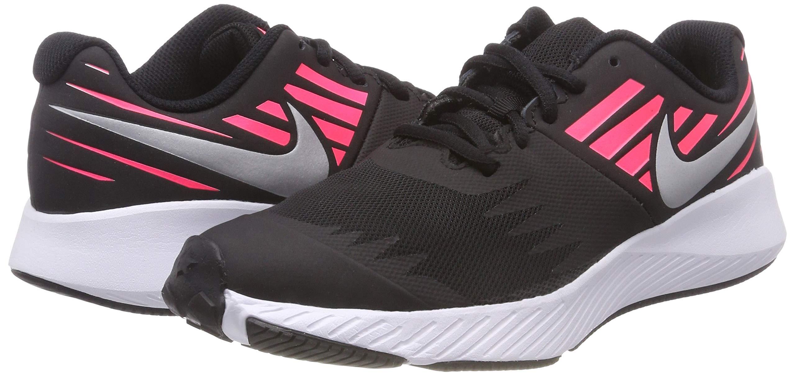 Nike Girl's Star Runner (GS) Running Shoe Black/Metallic Silver/Racer Pink/Volt Size 3.5 M US by Nike (Image #8)