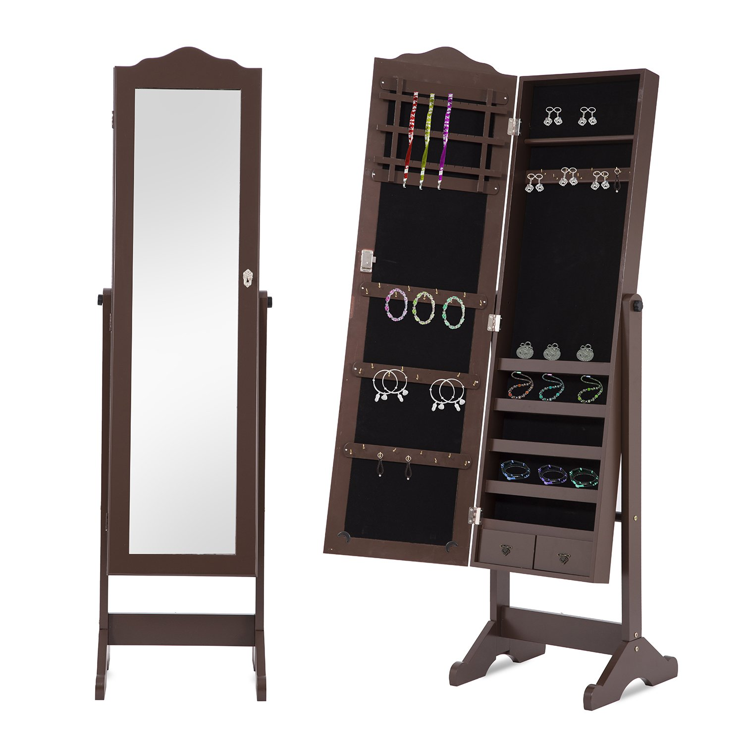 jewelry mounted locking wall x wooden armoire cfm cabinet product in hayneedle mirror wallmountedwoodenjewelryarmoire