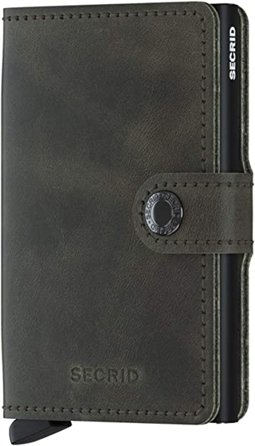 Secrid Safe Rfid Metal Cc Case W Leather Blk