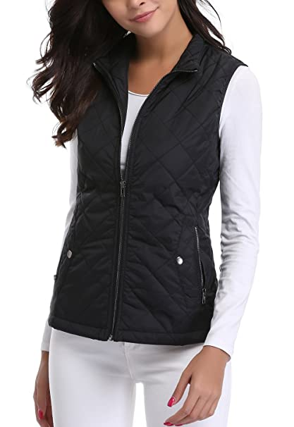 cc477be8f7ffc MISS MOLY Women s Gilet Lightweight Bodywarmer Sleeveless Jacket Black  X-Small