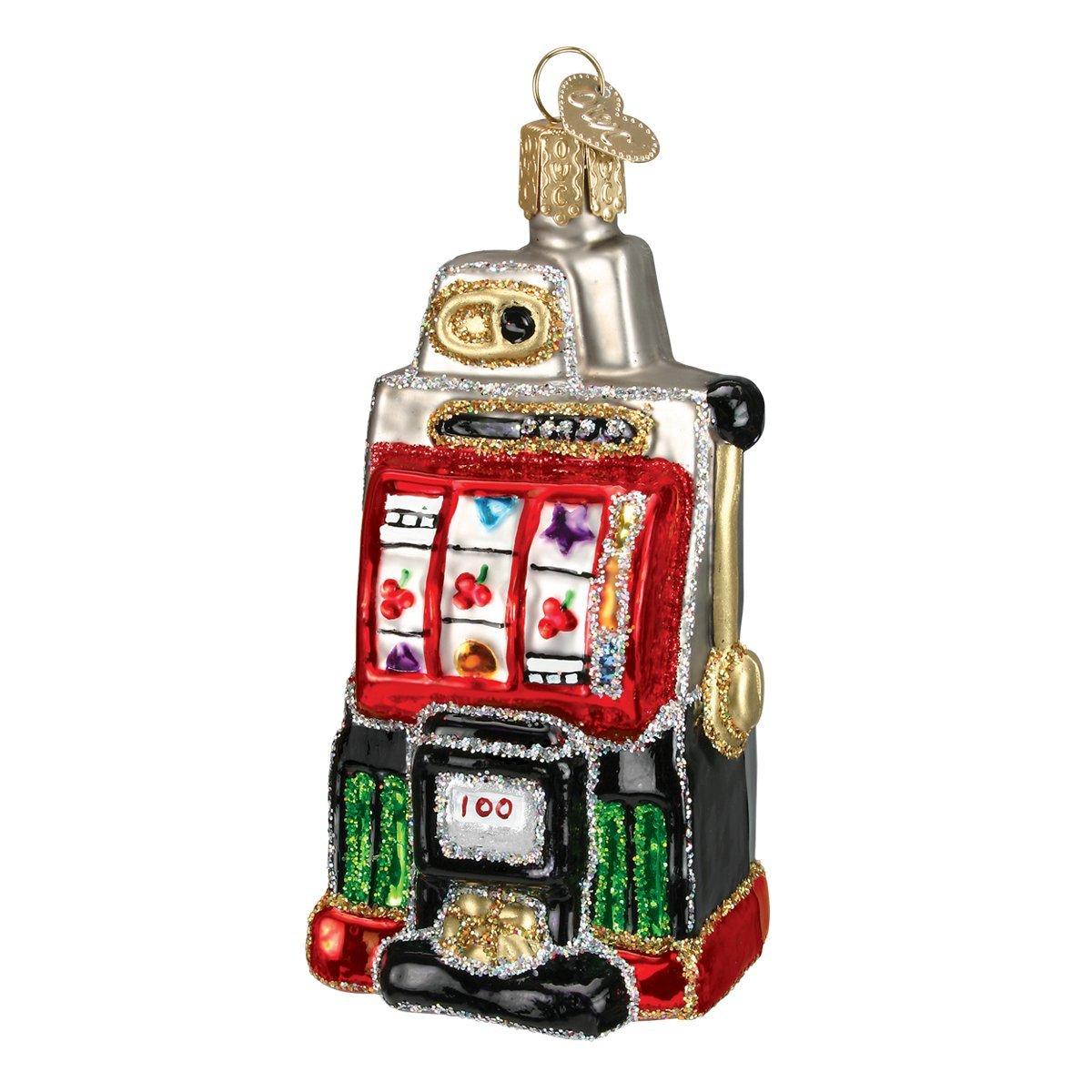 Old World Christmas Slot Machine Glass Blown Ornament