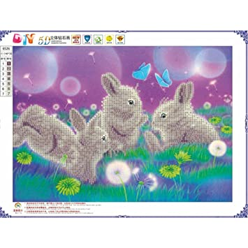 Nesix Diy Diamond Painting The Rabbit 5d Embroidery Paintings
