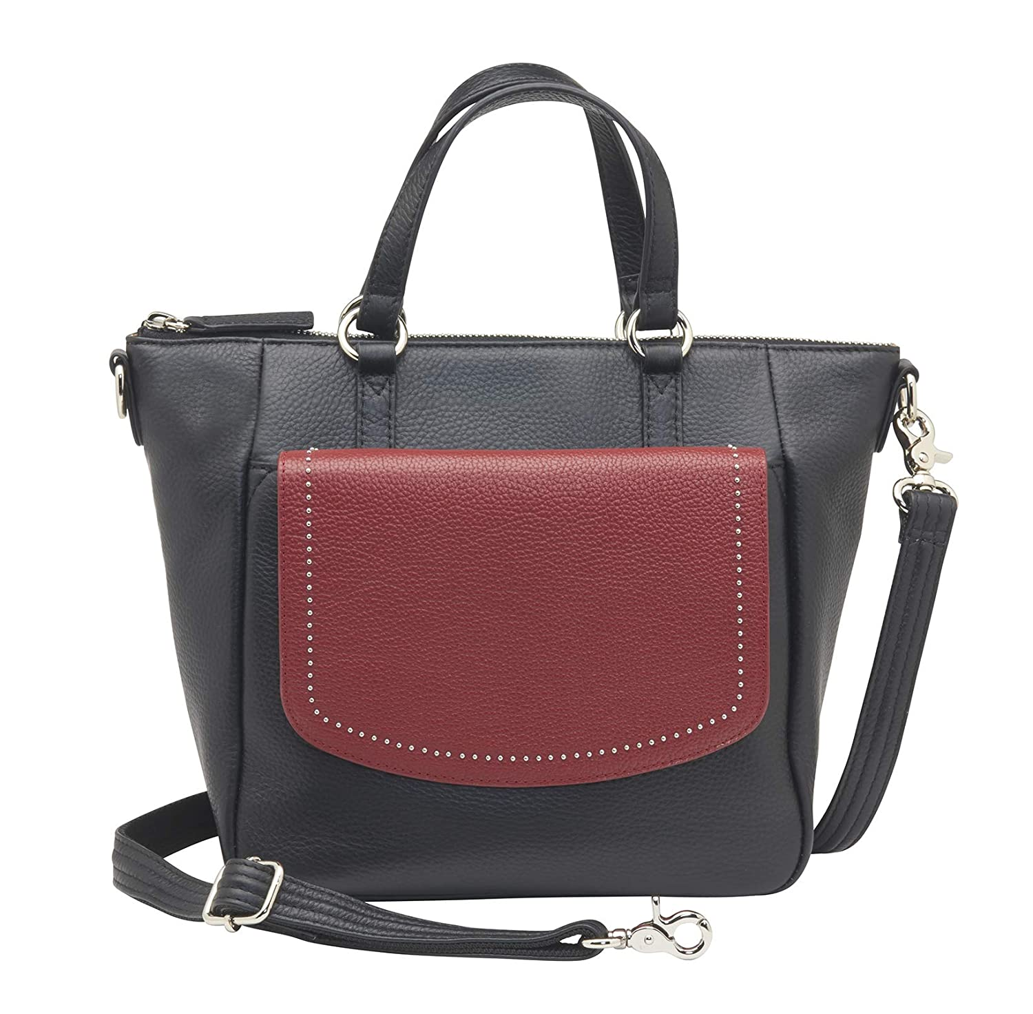 42e78fcb4287 Concealed Carry Purse - 4-in-1 Leather Crossbody Bag by GTM ...
