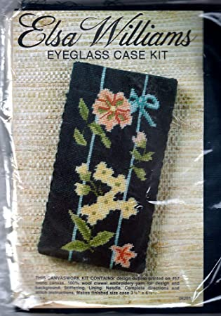 Amazon Vintage Elsa Williams Crewel Embroidery Eyeglass Case