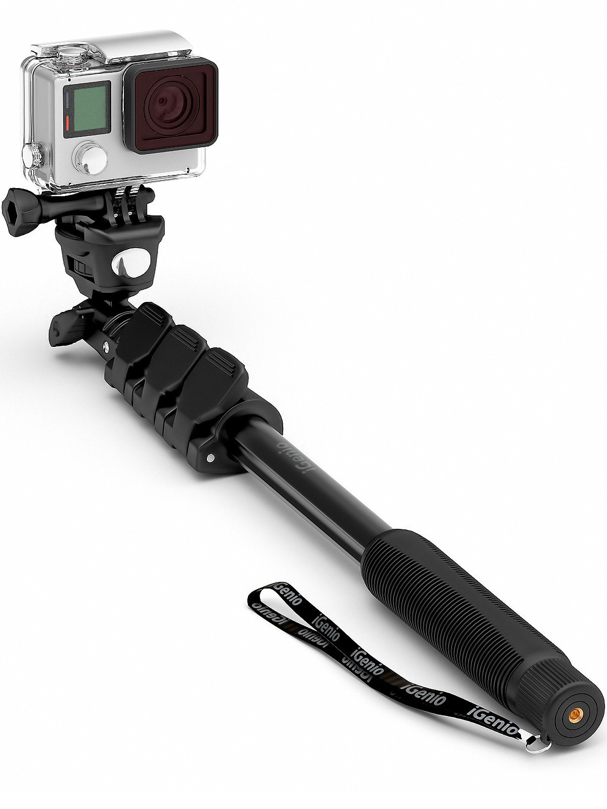 "Professional 10-In-1 GoPro Monopod, 15""- 47"" Waterproof Selfie Stick For Go Pro Hero, Action Cameras, Smartphones, Digital Compacts (Black)"