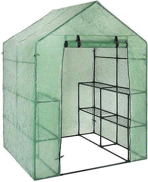 Walk-in Invernadero PE/PVC Cubierta de Tela casa de jardín Plantas suculentas Flores jardín de Invierno para Exterior - Semillas de Flores Cubiertas de Patio de plástico Anti UV para Sombra y Lluvia: