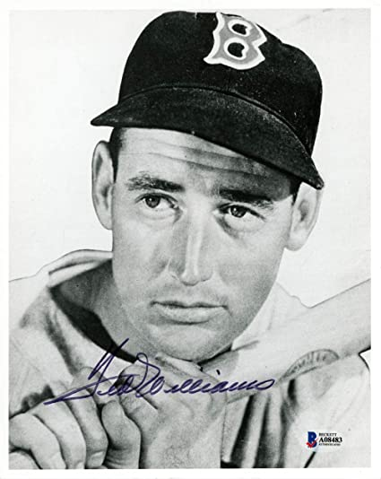 3ccdf57313d Image Unavailable. Image not available for. Color  Ted Williams Autographed  8x10 Photo Boston Red Sox - Beckett Authentic