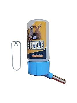 SatisPet Hamster - Botella de agua automática sin goteo, 115 ml, dispensador de agua