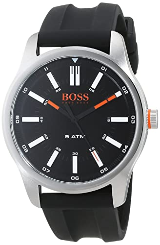 6f662ac72e5 Hugo Boss Orange Mens Analogue Classic Quartz Watch with Silicone Strap  1550042: Amazon.co.uk: Watches
