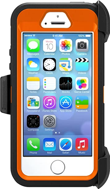 88205fcac66 Amazon.com: OtterBox Defender Series Case for Apple iPhone 5/5s/SE - Retail  Packaging - Realtree Xtra (Blaze Orange/Black W/Realtree Xtra Design): Cell  ...