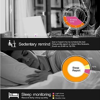 Smartwatch Demiawaking Reloj Inteligente F69 Deportes Smart Watch IP68 Cardíaca Fitness Tracker Monitor de Sueño Pedome