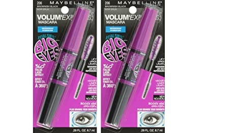 c53a55ead12 Image Unavailable. Image not available for. Colour: Maybelline New York Volum  Express Falsies Big Eyes Waterproof Mascara, Brownish ...