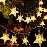 EYUVAA LABEL 30 LED 10M Star Shape LED String Lights Multi Color Fairy Lamp for Christmas Diwali Birthday Wedding Decoration (Golden)